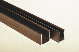 "Ukončovací AL ""U"" profil jednoduchý 6,4m 10mm - hnědý elox - 1/2"
