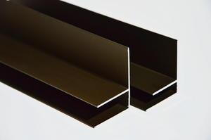 """Bočný """"F"""" profil 3m 10mm - hnedý elox - 1/2"""