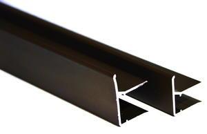 """Ukončovací AL """"U"""" profil s predĺženou hranou 6,4m  6mm - hnedý elox - 1/2"""
