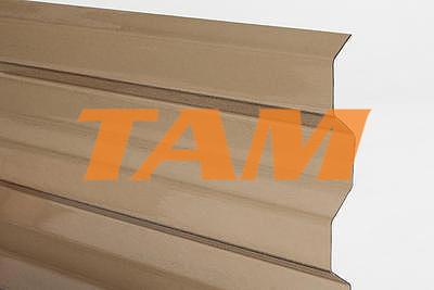 Trapézový polykarbonát 1045x4000mm bronz so štruktúrou krupička