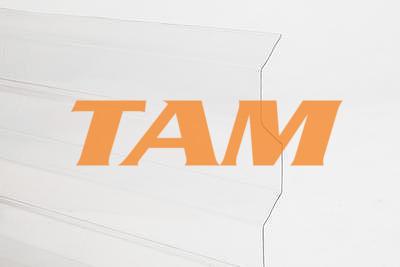 Trapézový polykarbonát 1265x5000mm číra