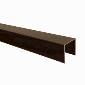 "Ukončovací AL ""U"" profil jednoduchý 6,4m 10mm - hnědý elox - 2/2"