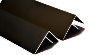 """Bočný """"F"""" profil 3m 10mm - hnedý elox - 2/2"""
