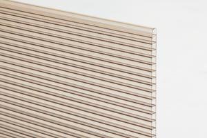 Komôrkový polykarbonát hr.10mm 2100x7000mm bronz