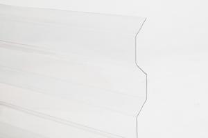Trapézový polykarbonát 1265x6000mm číra