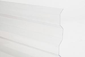 Trapézový polykarbonát 1045x6000mm číra so štruktúrou krupička